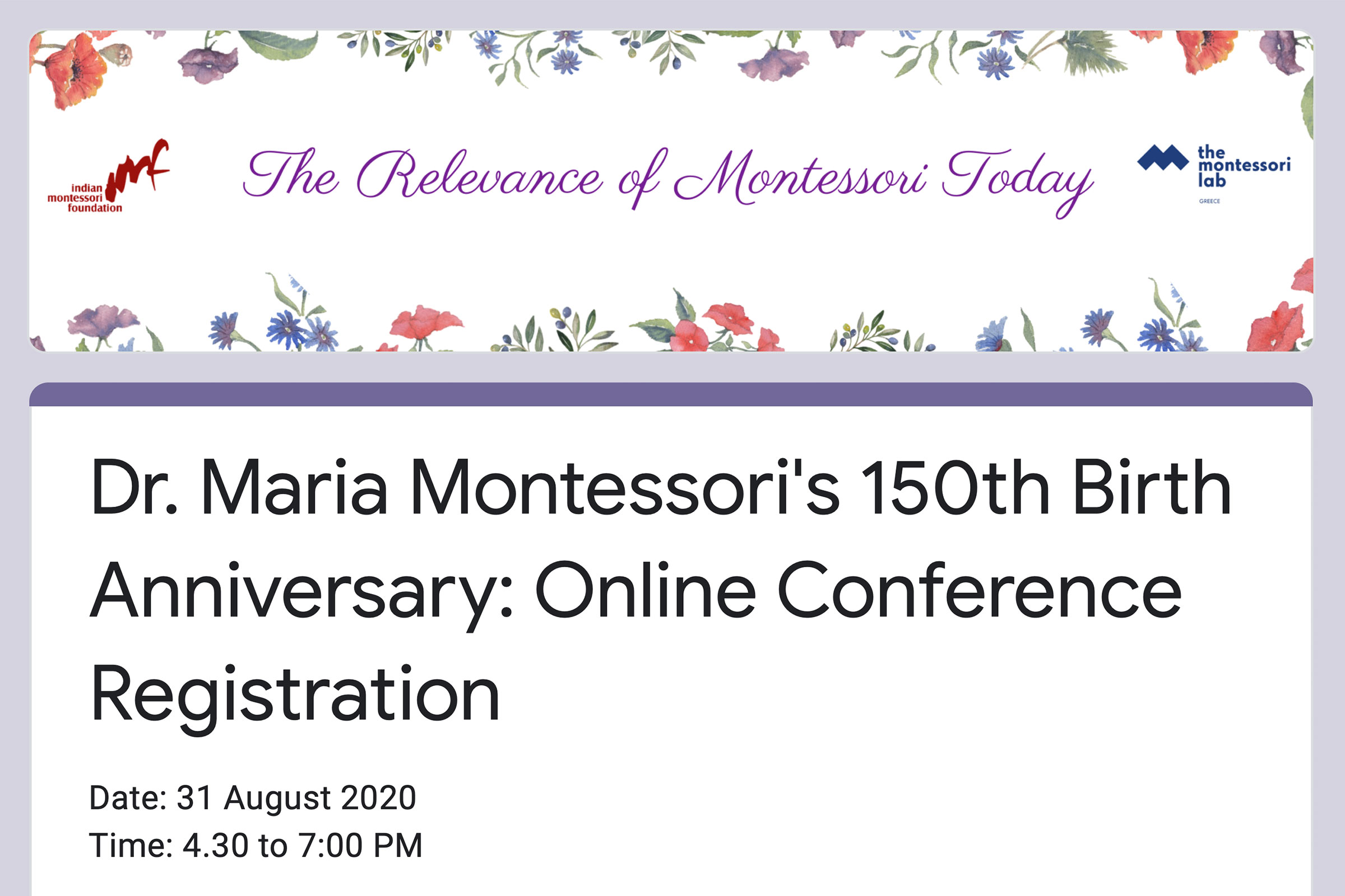 Online Conference, India, August 2020