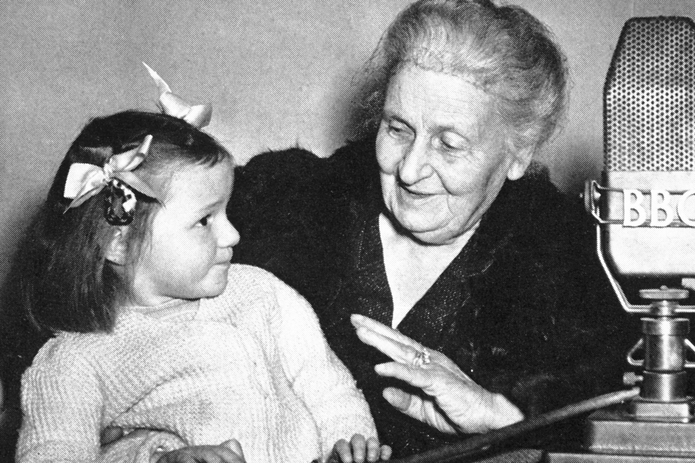 Maria Montessori with child