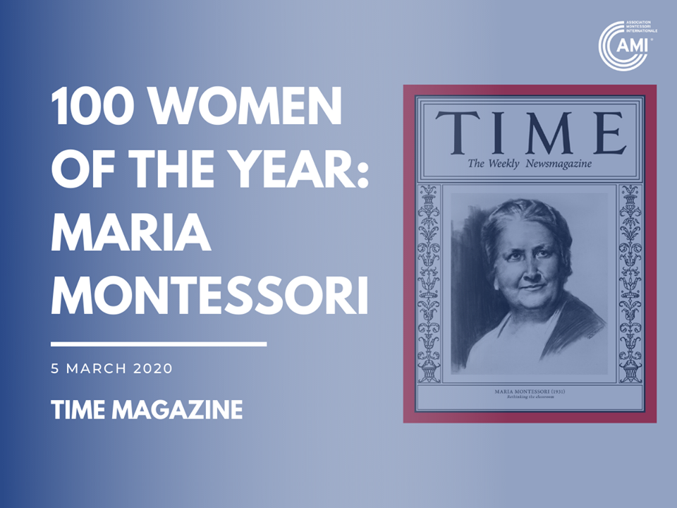 Maria Montessori on Time Magazine 100 Women of the Year