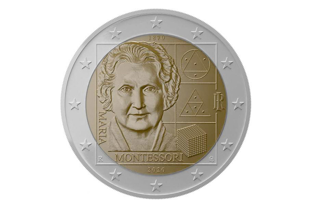 Commemorative coin Maria Montessori 150
