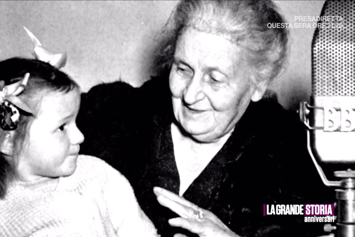 Maria Montessori on Italian TV