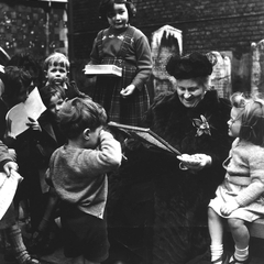 Maria Montessori with Children 06