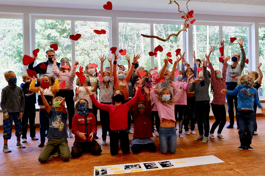 Children Celebrating at Montessori Rotenburg, Germany