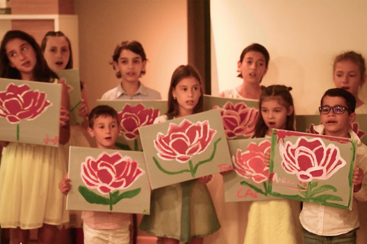 Children from Montessori School of Varna, Bulgaria